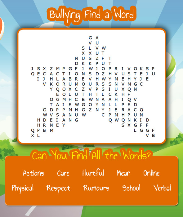 Find a Word - Bullying