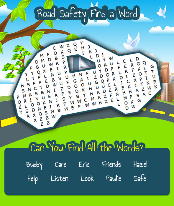Find a Word - Road Safety